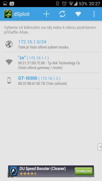 Dostupné síťové prvky