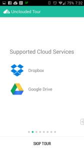 Podporovány jsou cloudové služby Dropbox a Disk Google