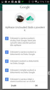 Schválení přístupu aplikace k Disku Google