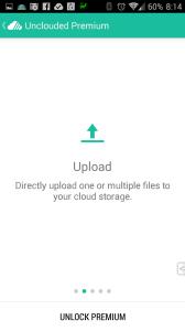 Prémiová verze umí nahrávat jeden nebo více souborů do cloudu
