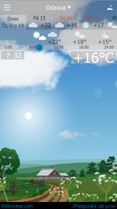 YoWindow přizpůsobuje obraz denní době a ročnímu období