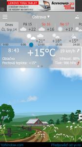 Podrobnější informace o počasí