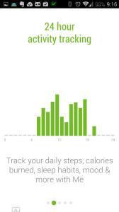 Aplikace může sledovat ušlé kroky, spálené kalorie, spací návyky, náladu