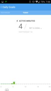 Aktivní minuty dnes