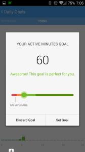 Aktivní minuty - cíl