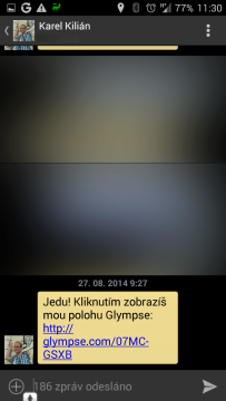 SMS s odkazem