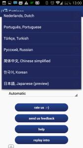Výběr jazyků