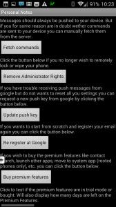 Android Lost: uživatelské rozhraní aplikace