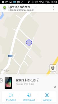 Aplikace Správce zařízení Android