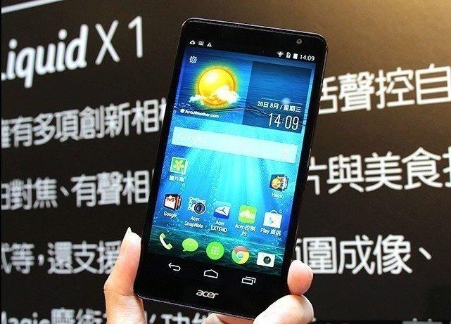 Acer Liquid X1 Levne Osmijadro S Androidem 44 A LTE