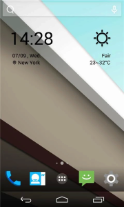 Android L Icons and Weather Skin