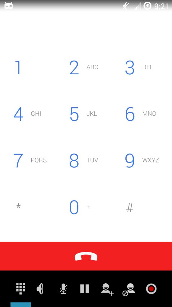 CyanogenMod přidává možnost nahrávání hovorů