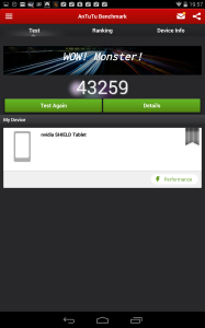 Nvidia Shield Tablet recenze - AnTuTu 2