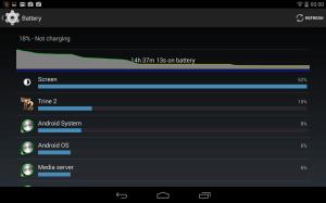 Nvidia Shield Tablet recenze -  baterie