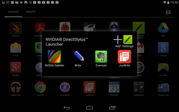 Nvidia Shield Tablet recenze - launcher