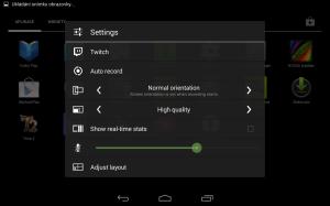 Nvidia Shield Tablet recenze - nastavení nahrávání 1