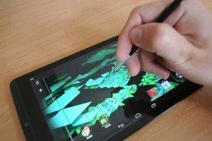 Nvidia Shield Tablet recenze - psaní