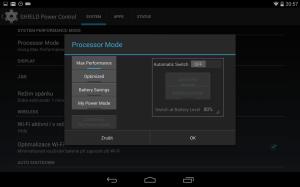 Nvidia Shield Tablet recenze - úsporný režim 1