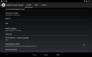 Nvidia Shield Tablet recenze - úsporný režim