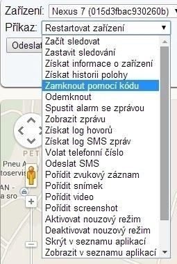 Cerberus proti krádeži: možnosti webové aplikace