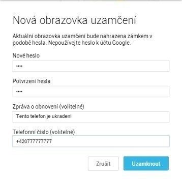 Správce zařízení Android: pokyn k uzamknutí telefonu