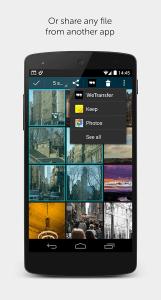WeTransfer 3 android aplikace