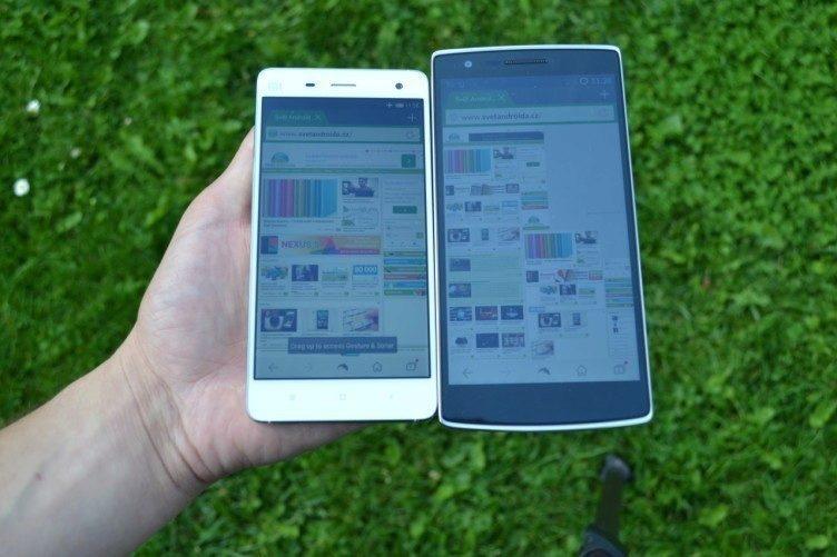 Xiaomi Mi4 vs OnePlus One - čitelnost (1)