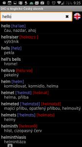 Anglicko-český offline slovník
