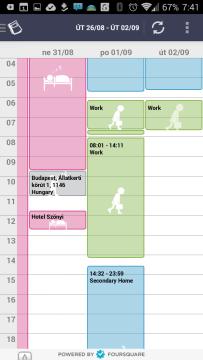 Kalendář s popisky