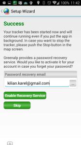 Zadání e-mailové adresy pro obnovu hesla