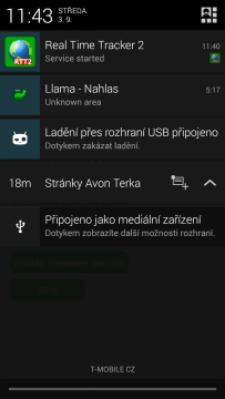 Ikona aplikace v oznamovací oblasti
