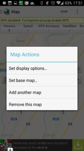 Možnosti práce s mapou