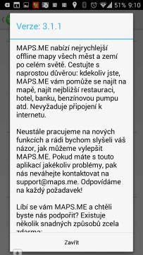 Informace o verzi