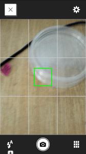 Zapnutá mřížka fotoaparátu