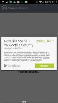 ESET Mobile Security & Antivirus: zakoupení licence