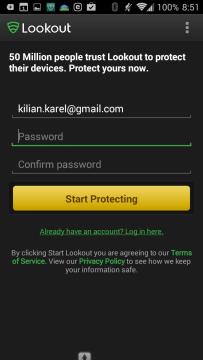 Antivirus & Security | Lookout: registrace