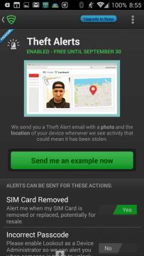 Nastavení funkcí pro nalezení ztraceného/ukradeného zařízení