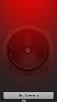 Spuštění hlasitého alarmu