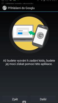 Představení aplikace Google Authenticator