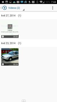 Aplikace používá režim knihoven