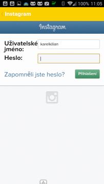 Propojení se sociální sítí Instagram