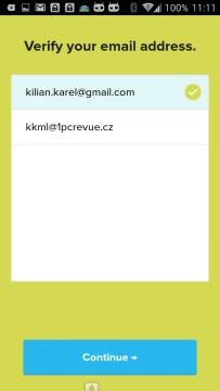 Potvrzení e-mailové adresy