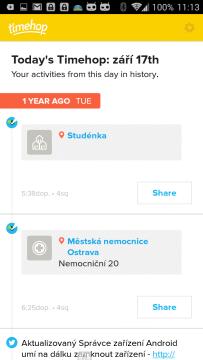Vzpomínky na dění před rokem