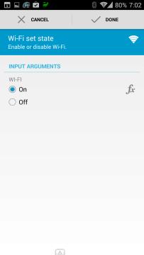 Akce: spuštění Wi-Fi