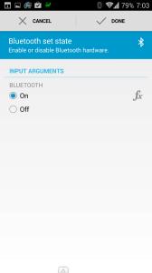 Akce: povolení Bluetooth