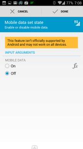 Zakázání mobilních dat