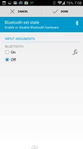 Vypnutí Bluetooth