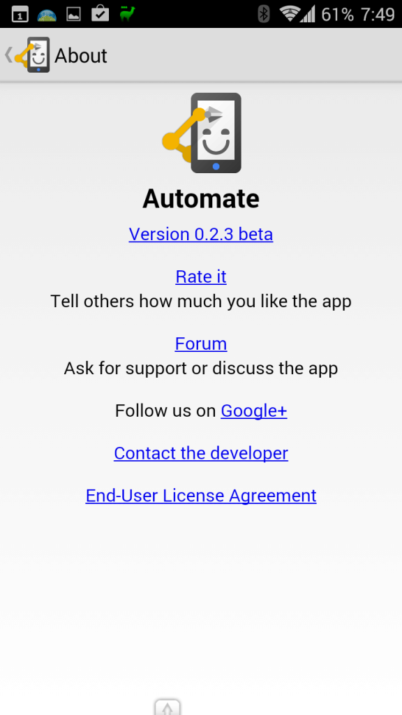 Informace o aktuálně používané verzi