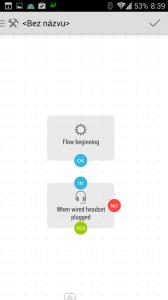 Vytvořili jsme podmínku Wired Headset Plugged?