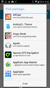 Výběr aplikace